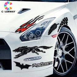Wetterfeste UVbeständige imprägniern 3m starken anhaftenden reflektierenden Leuchtstoff Silk Bildschirmausdruck-Zoll gestempelschnittenen statischen Fenster Belüftung-Vinylauto-Stoßaufkleber