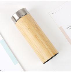 350ml/450ml/500ml original sin BPA de bambú personalizada botella Botella de agua de acero inoxidable