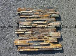 Cultura Rusty natural revestimento de paredes de pedra ardósia para decoração