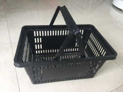 Puxador duplo empilhamento pequeno cesto plástico comercial