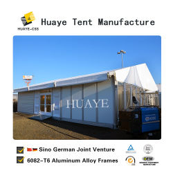 Немецкий Водонепроницаемость ПВХ промышленных склад для хранения полог палатки с бегущей строкой (02)