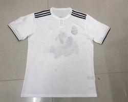 2018/2019の実質のマドリードのホーム白いサッカーのジャージの女性の方法フットボールのTシャツ