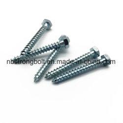 DIN571 Lag vis à tête hexagonale avec plaqué zinc