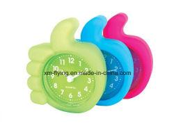 Creative Kid's irrompible pulgar hacia arriba la forma de mesa Mini de silicona Reloj Despertador de viaje