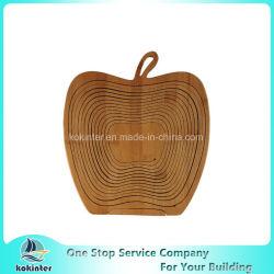 Foldable 대나무는 과일 바구니 접히는 바구니 픽크닉 바구니 홈 훈장을 만든다