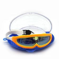 نظارات سباحة كبيرة الإطار مع مانع للضباب وحماية بالأشعة فوق البنفسجية وحقيبة حماية مجانية ومتوافق مع الرجال البالغين من النساء الشباب