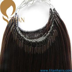 前に担保付きの人間の毛髪のマイクロビードストリングリンク毛の拡張