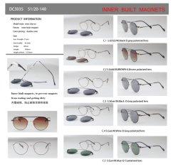 Il magnete magnetico di configurazione interna pronta delle merci incornicia la clip sulla clip dei blocchi per grafici sugli occhiali da sole DC3035 - DC3039
