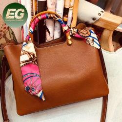 Fantastische Frauen-Schulter-Beutel-Silk runde Grifftote-Handtaschen Emg5433
