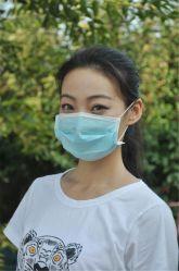 3 ply não tecidos máscara descartável de cuidados da pele e impermeável anti poeira