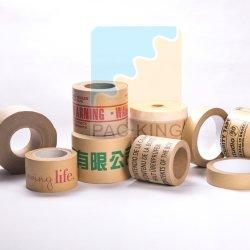 По заказу, дружественность и печать, усиленные воды активирован Kraft ленты/ Gummed уплотнение на бумажной ленте клейкую ленту с 120mic