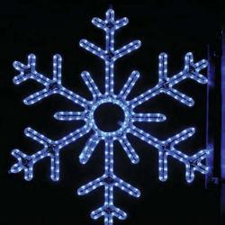 IP65 esterni impermeabilizzano siluetta del fiocco di neve di motivi LED della corda dei grandi del fiocco di neve di natale LED indicatori luminosi di motivo la 2D per le visualizzazioni commerciali