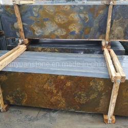 Mehrfarbenschiefer-grosse Platten, gelber Schiefer-halbe Platten für Wandverkleidung und Bodenbelag