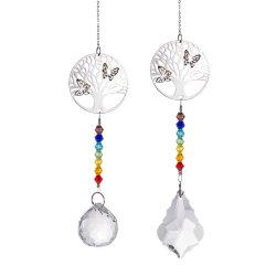 Lucky дерево Crystal валик клея, подвесная люстра части окна стекло Suncatchers висящих украшений дома свадебные украшения ремесла