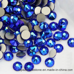 Ss16 Ss20 Ss30 niet de Diamant van het Kristal Hotfix om Vlak Achter niet Bergkristal Hotfix (fB-Lt. saffier ab/5A)