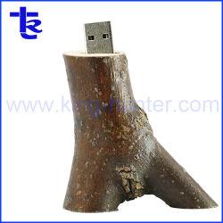 Горячая продажа природного дерева ветви дерева флэш-диск USB