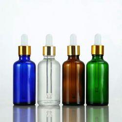 Commerce de gros prix d'usine Verre Bouteille d'huile essentielle de parfum avec compte-gouttes