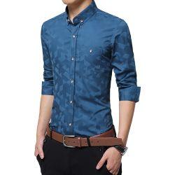 人のための標準的なライトそして薄く長い袖のワイシャツ