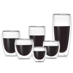 Double paroi en verre tasse Espresso résistant à la chaleur en verre borosilicaté la tasse de café tasse à café