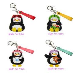 2020 Commerce de gros de jouets pour enfants Smart DIY Handmade Nouveau Design Fashion Penguin trousseau de clés à l'acrylique