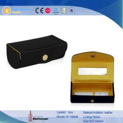 Lápiz labial personalizado caso maquillaje labial Caja de regalo con espejo (1196)