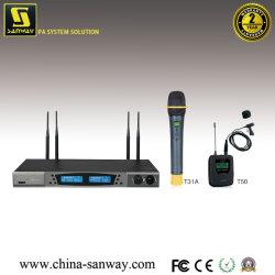 Double canaux de microphone sans fil UHF (8243)