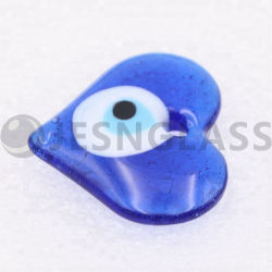 Handmade Murano Lampwork turco de cristal azul mal magnético ojo Amuleto Corazón Beads Charms joyas collares Colgante, la decoración del hogar