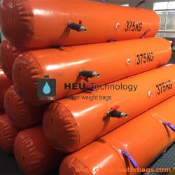 375kg救命ボートの証拠ロードテスト水は重量袋の浮遊物袋の海難救助を満たした