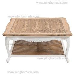 Страны Северной Европы Луис домашних хозяйств в стиле мебелью природных верхней части природных плетеной и Луи белый вниз кофейный столик
