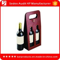 Contenitore di imballaggio di cuoio di lusso personalizzato del vino dell'unità di elaborazione di marchio