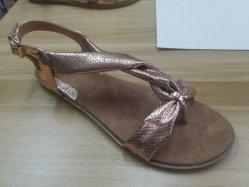 新しいおよびFlat Heel Sandal方法女性服靴