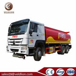 중국 새로운 HOWO 20000L 수용량 20t 디젤유 유조선 연료 탱크 트럭