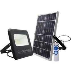 Безопасности для поверхностного монтажа с регулируемой яркостью лампы аварийной резервной батареи IP65 наружного освещения на солнечной энергии Светодиодный прожектор солнечного сада прожектор