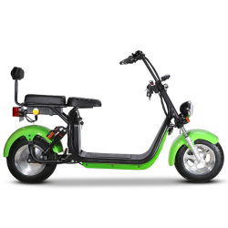 2020 Nuevo certificado CEE Citycoco Super Scooter eléctrico sin escobillas del motor de la rueda de tipo 2 bicicleta eléctrica 1500W 60V12Ah 20A