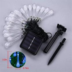 Piscina alimentada a energia solar 20 caracteres de LED de luz para o pátio com jardim paisagístico do pátio parte da lâmpada