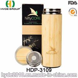 مكنسة كهربائية خالية من مادة الخيزران خالية من مادة BPA سعة 360 مل مع فلتر الشاي (HDP-3109)