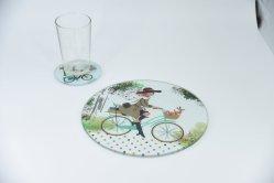 Copo de vidro Coaster Place Bar Mat Tapete de mesa e Coaster Definir dons de promoção