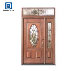 Стекловолоконные Fangda двери со стеклянными Transom