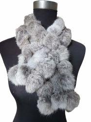 BSCI Vérification de l'hiver chaud Écharpe de fourrure véritable Écharpe de fourrure de lapin