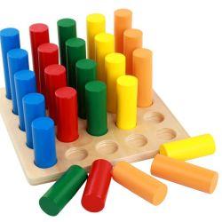 Sensorische Hilfsmittel-Zylinderblöcke, die Kind-mathematischer Spaß-pädagogisches Spielzeug erlernen