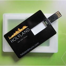 Logotipo personalizado tarjeta USB Negro precio de fábrica Tarjeta USB Flash 100% la capacidad real de la tarjeta de crédito USB 2.0