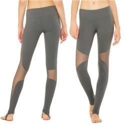 Pied de Fitness Sportswear personnalisé aux femmes Le pantalon slim l'épissage de maillage de yoga Yoga jambières