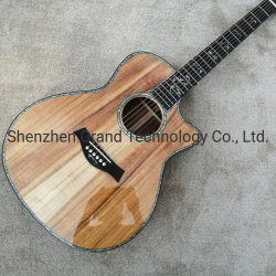 Реальные морское ушко золото 916K твердых комфортабельны дерева в разрезе электрический Акустическая гитара