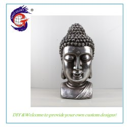 Populaire Thaise Hars Boeddha Hoofd Standbeeld Bidden Religieuze Beeldhouwkunst Decoratie