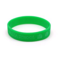 Della fabbrica Wristbands variopinti del silicone di marchio di stampa di Cmyk del regalo di natale direttamente con il formato della gioventù