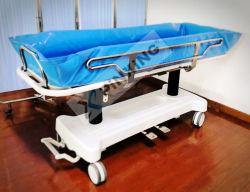 Carrito de la ducha hidráulica regulable en altura para los pacientes de la higiene personal