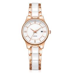 Fashionable Super Fino Data de quartzo Exibir relógio de pulso para senhora