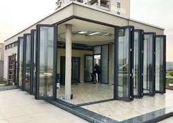 건축재료 비 표준 프랑스 집 알루미늄 비스무트 안뜰 입구 문 광저우를 미끄러지는 접히는 Tempered 두 배 유리제 Windows와 문 비스무트 겹
