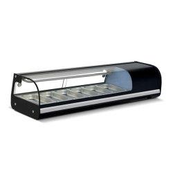 Gegenoberseite-Sushi-Einkommen-Nahrungsmittelbildschirmanzeige-Kühlraum-Kühler-Schaukasten