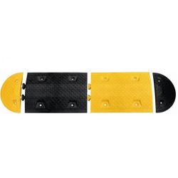 Rampe de vitesse en caoutchouc avec partie réfléchissant jaune